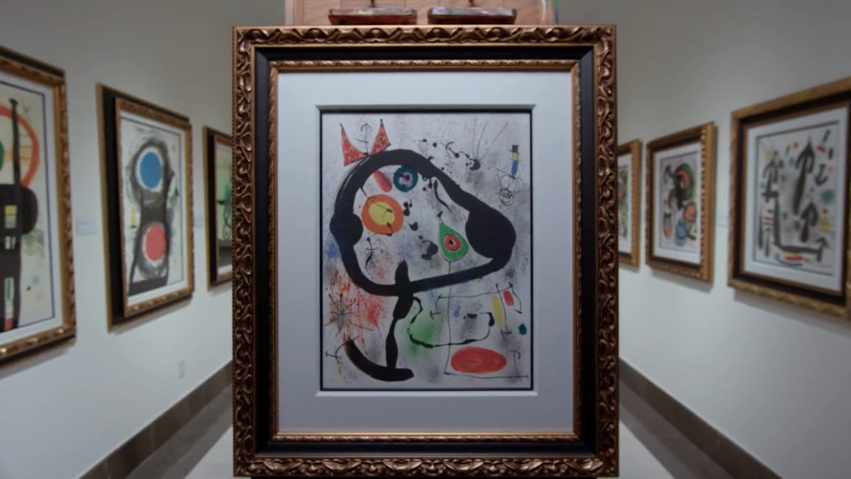 """The Seers III"" (1970, M.663). From Joan Miró's Broder Collection."