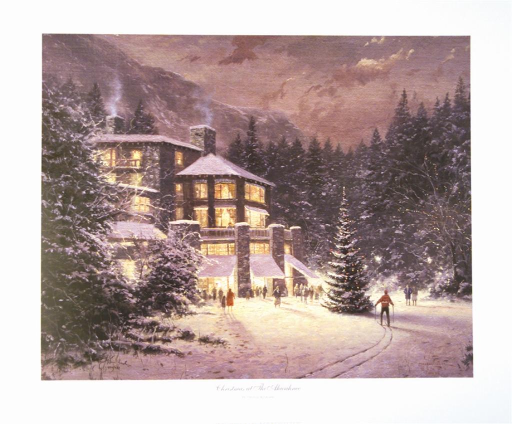"""""""Christmas at the Ahwahnee,"""" Thomas Kinkade"""