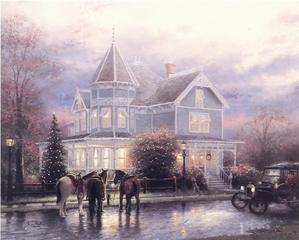 """""""Christmas Memories,"""" Thomas Kinkade"""
