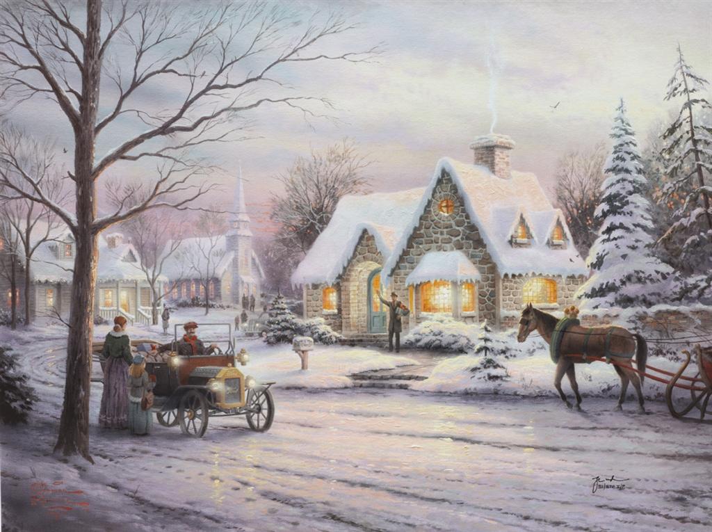 """""""Memories of Christmas,"""" Thomas Kinkade"""