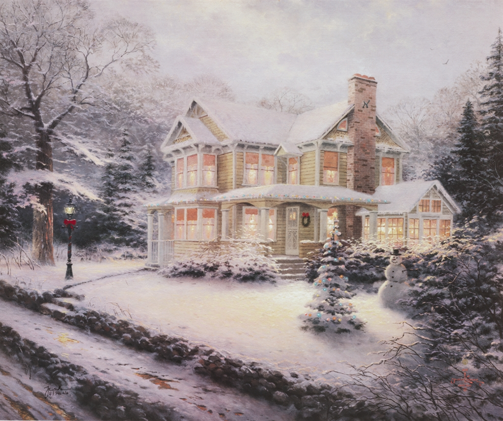 """Victorian Christmas III."" Thomas Kinkade"
