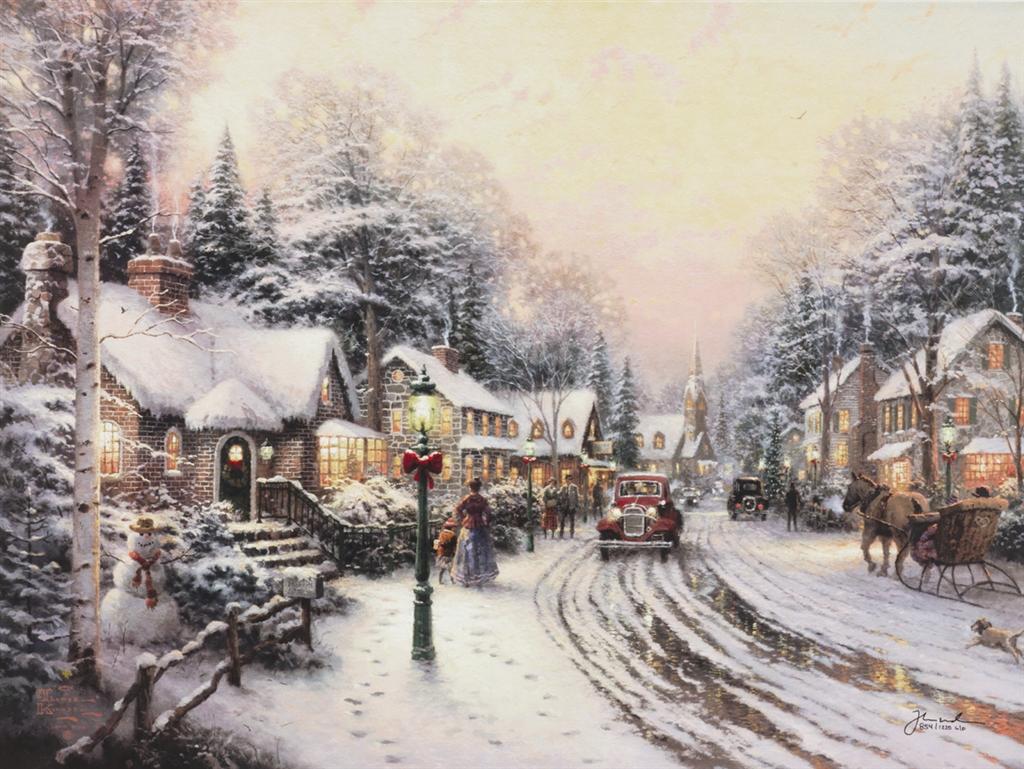 """Village Christmas,"" Thomas Kinkade"