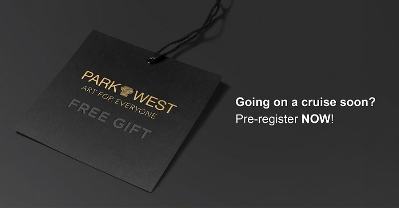 New Park West Gallery website pre-registration portal