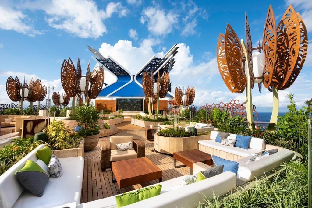 The amazing Rooftop Garden on Celebrity Edge (image courtesy of Celebrity Cruises)