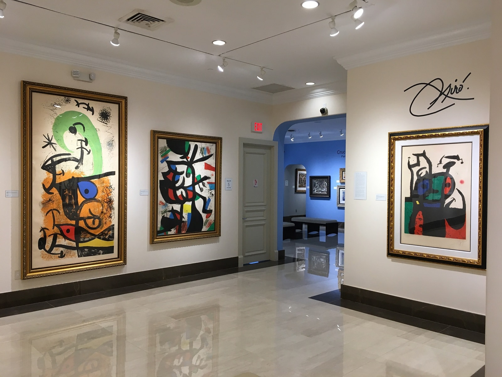 The Joan Miró gallery at Park West Museum.