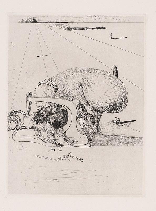 """""""Les Chants de Maldoror, Plate 19"""" (1934), Salvador Dalí"""