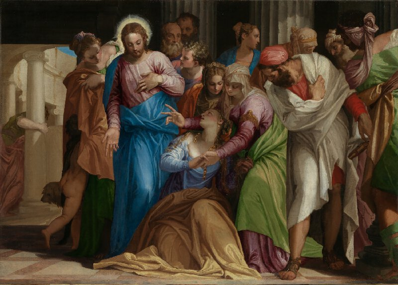 """The Conversion of Mary Magdalene"" (c. 1548) by Paolo Veronese"