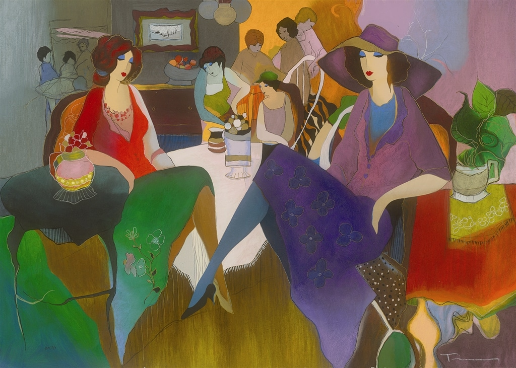 "Serigraph of ""Fancy Evening"" (2007), Itzchak Tarkay"