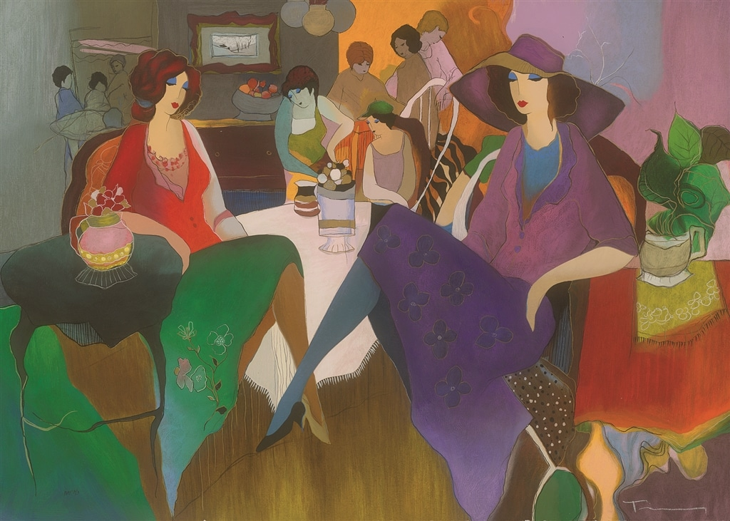 """Fancy Evening,"" Itzchak Tarkay"