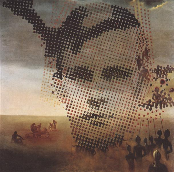 portrait of famous artist salvador dali