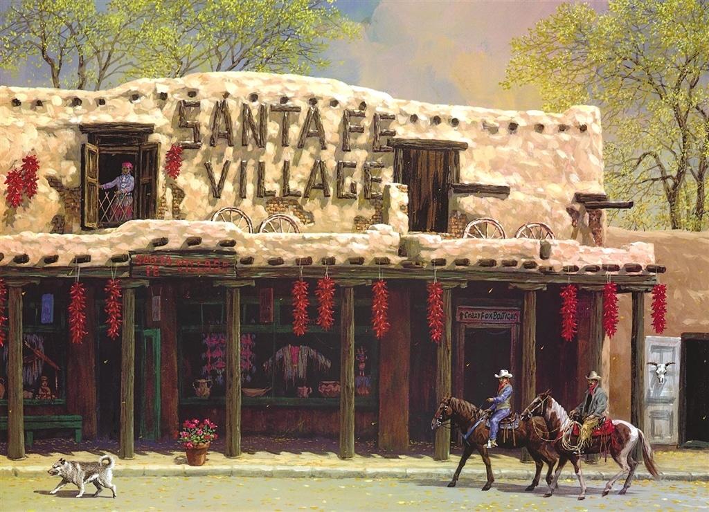 """Santa Fe Village"" (2018), Alexander Chen"