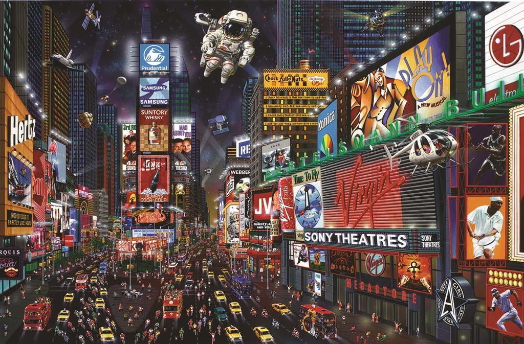 """Times Square Panorama"" (2003), Alexander Chen"