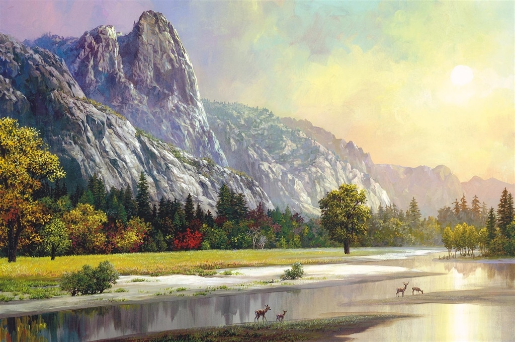 """Yosemite - Sentinel Rock"" (2018), Alexander Chen"