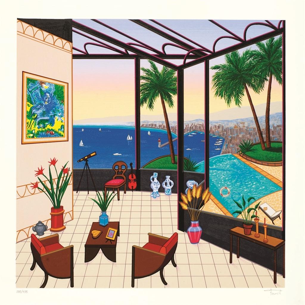 """Interior with Chagall,"" Fanch Ledan"