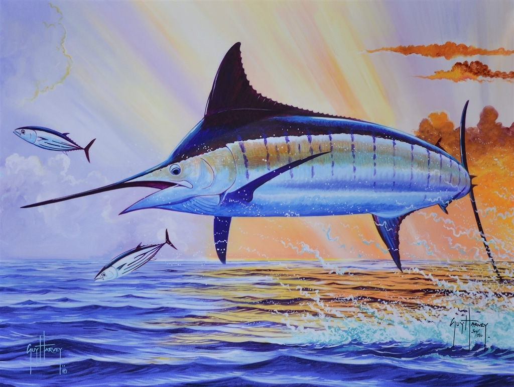 """Sunset Blue,"" Guy Harvey"