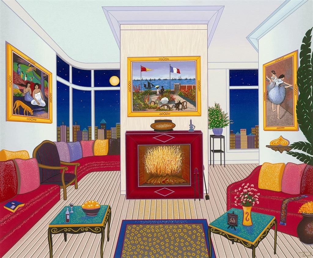 """Interior with Three Masterpieces,"" Fanch Ledan"