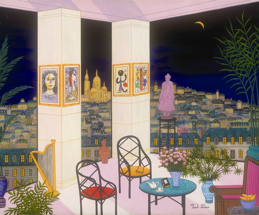 """Interior with Buddha,"" Fanch Ledan"
