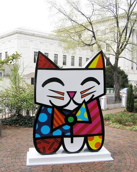 "Britto's sculpture ""Squeaki"" in Washington D.C."