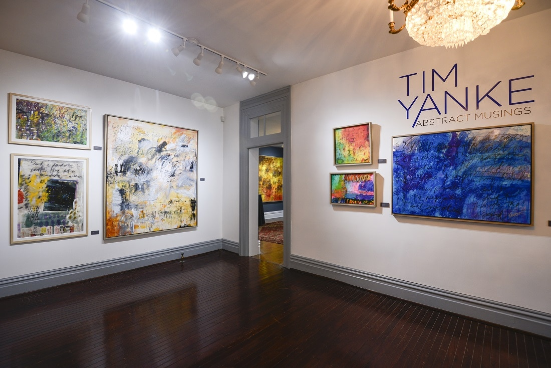 """Tim Yanke: Abstract Musings"" exhibition at the Monthaven Arts & Cultural Center"