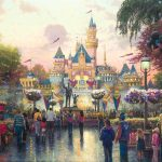 """Disneyland's 50th Anniversary,"" Thomas Kinkade"