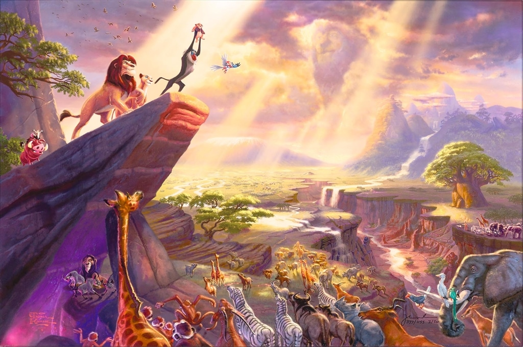 """The Lion King,"" Thomas Kinkade"