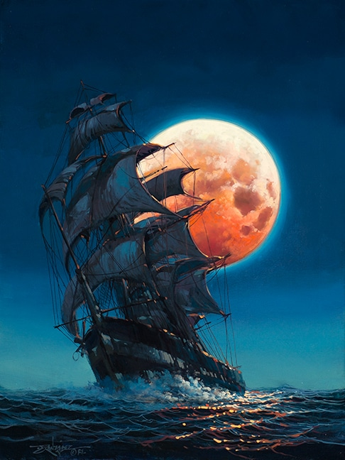 """Moonlit Pursuit,"" Rodel Gonzalez"
