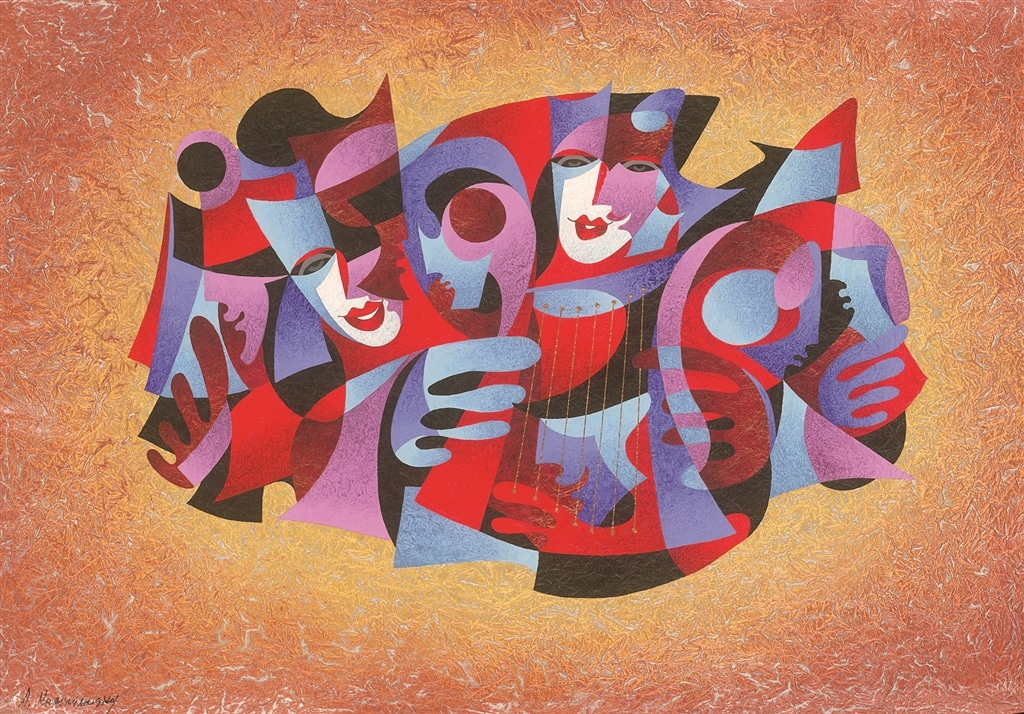 """Harp Strings"" (2006), Anatole Krasnyansky, Cubism, What is Cubism"