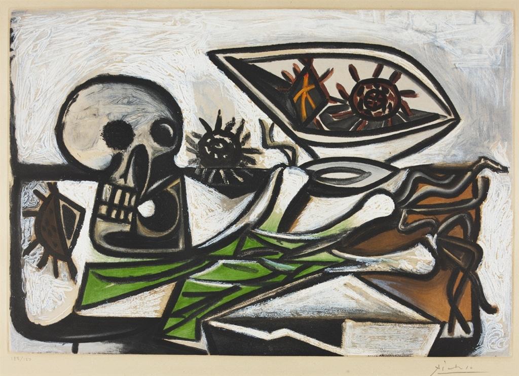 """Nature morte au Crane"" (c. 1960), Pablo Picasso"