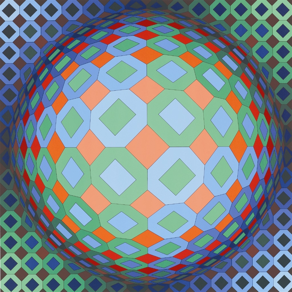 """Vega-Cor"" (1990), Victor Vasarely"