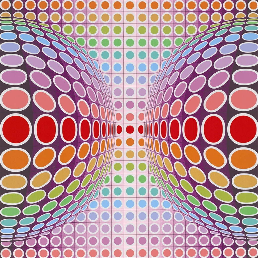 """Dyss"" (1989), Victor Vasarely, abstract, abstract art"