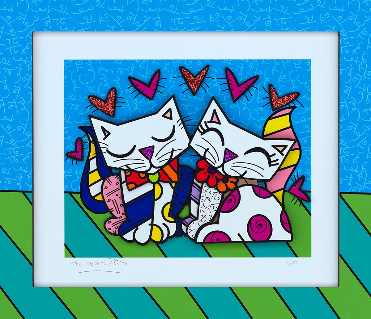 """Pure"" (2019) - one of Britto's new sculptographs"