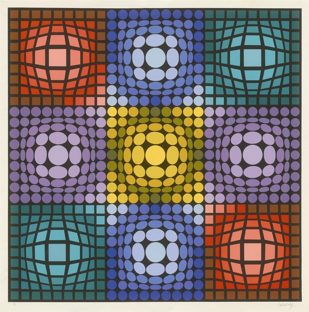 """Dyevat"" (1987), Victor Vasarely, abstract, abstract art"