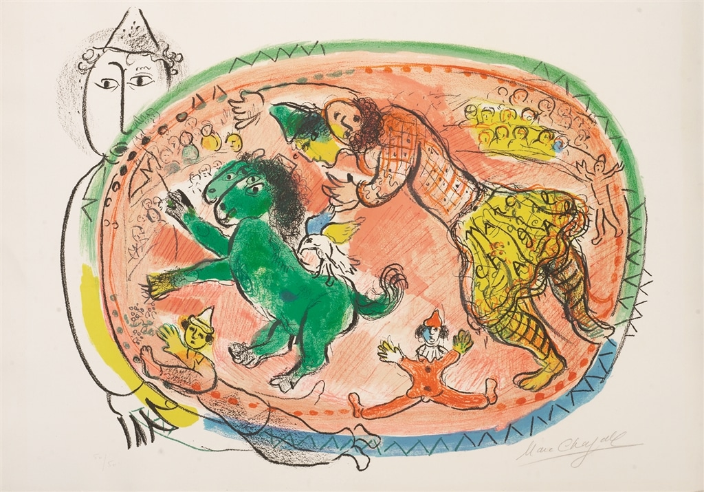 """Le Cercle Rouge"" (1966, m.440), Marc Chagall"