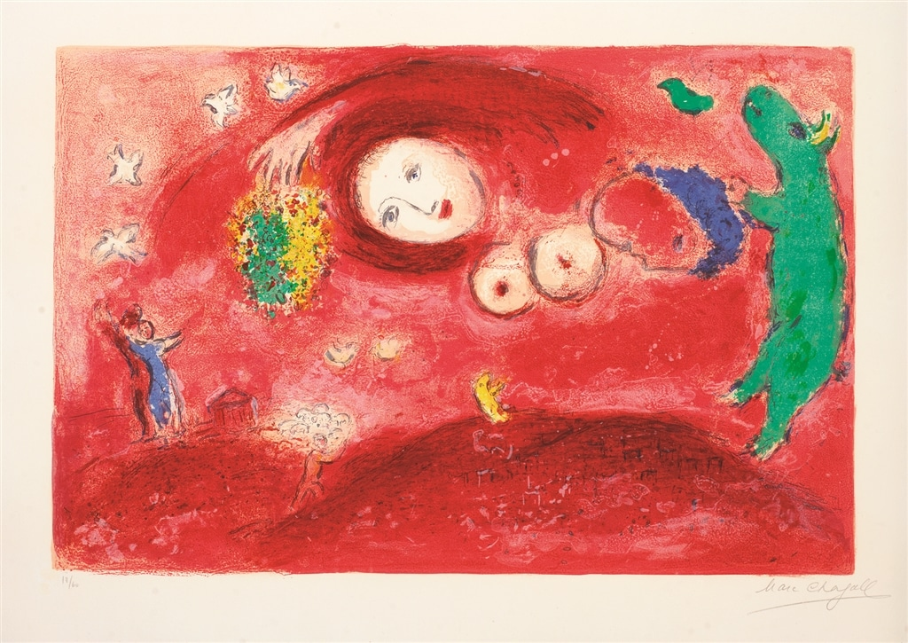 """Springtime on the Meadow"" (1961), Marc Chagall"