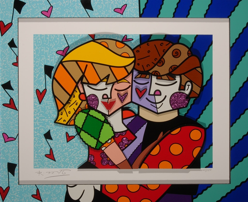 """Blue Couple"" (2016), Romero Britto, Cubism, What is Cubism"