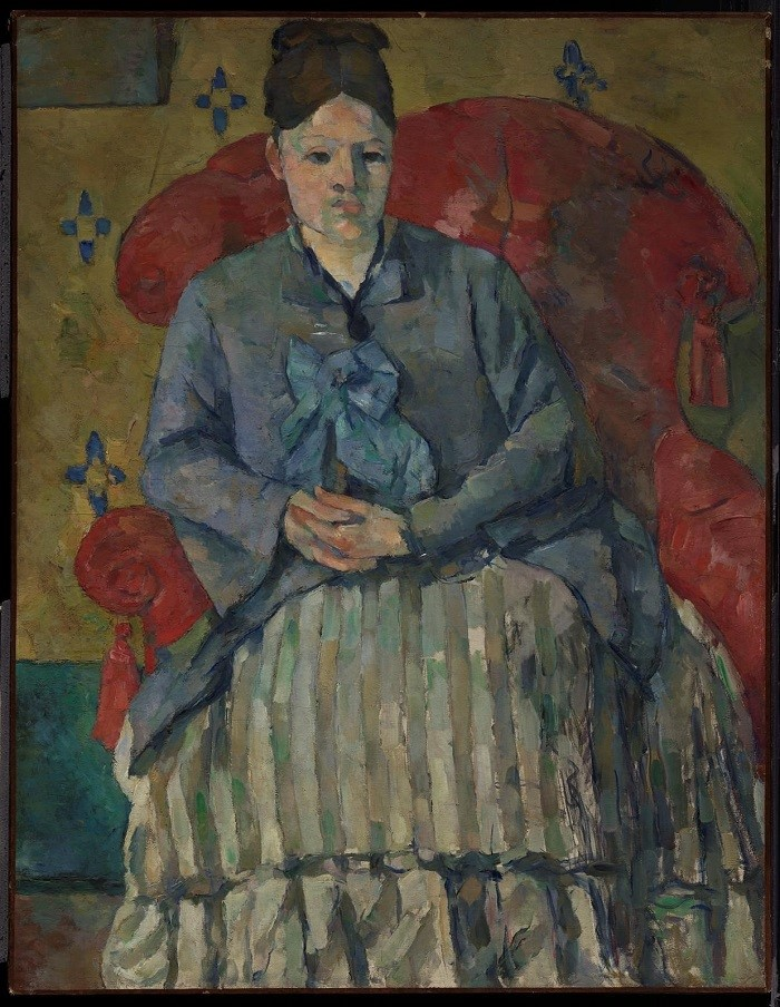 """Madame Cézanne in a Red Armchair"" (c. 1877), Paul Cézanne, Cubism, What is Cubism"