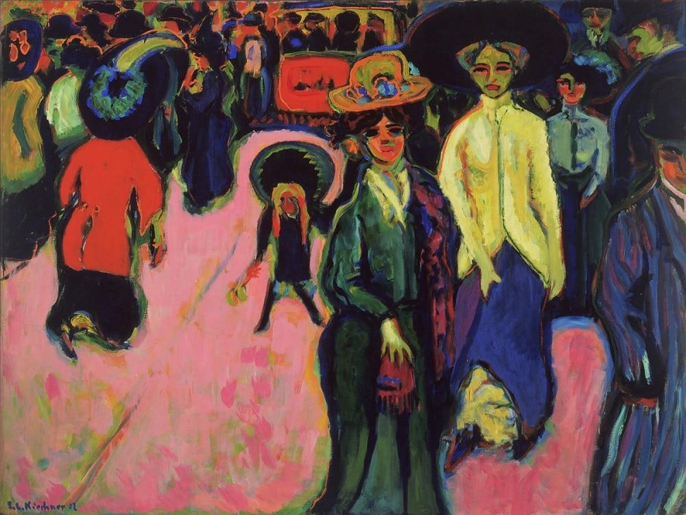 """Street, Dresden"" (1919), Ernst Ludwig Kirchner (Image via MOMA), , Expressionism, Expressionist Art"