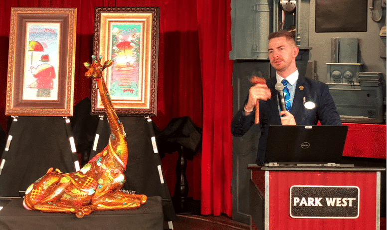 Auctioneer Mike Grobler