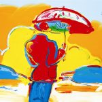"""Umbrella Man at Sea"" (2006), Peter Max, Expressionism, Expressionist Art"