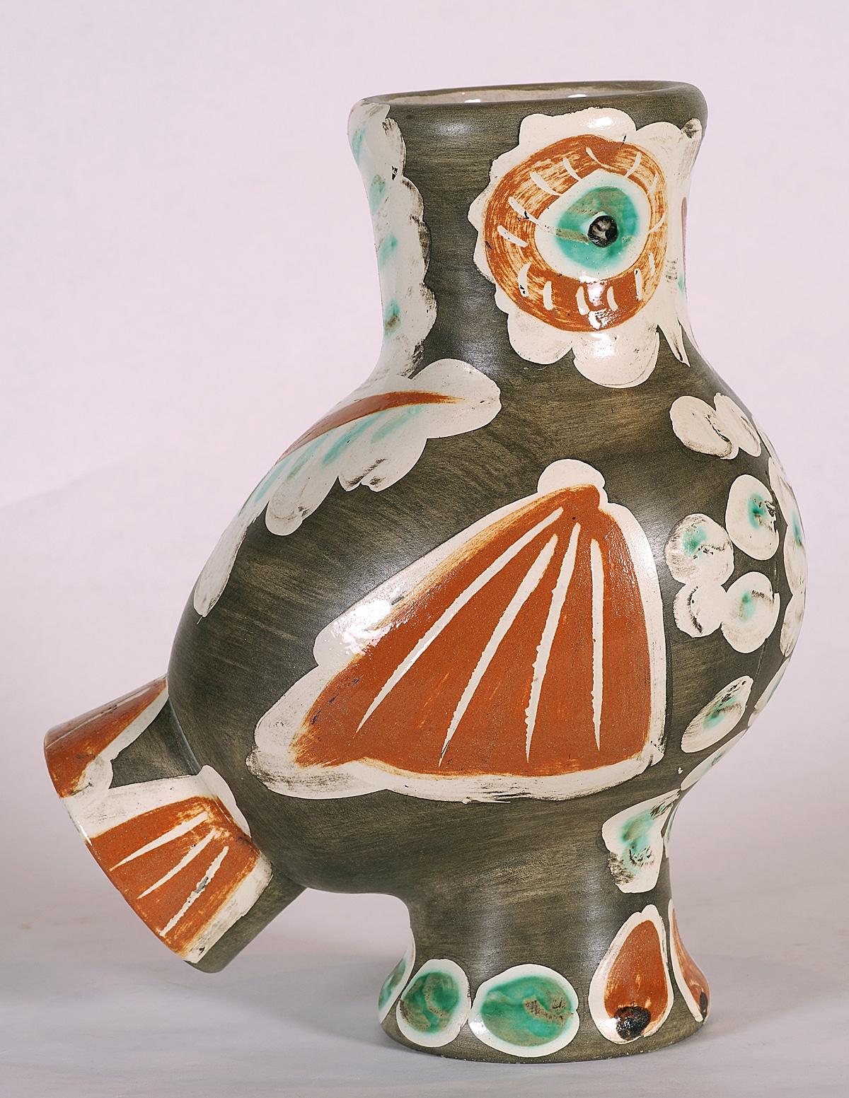 """Chouette"" (Wood Owl; 1968), Pablo Picasso, Picasso Ceramics"