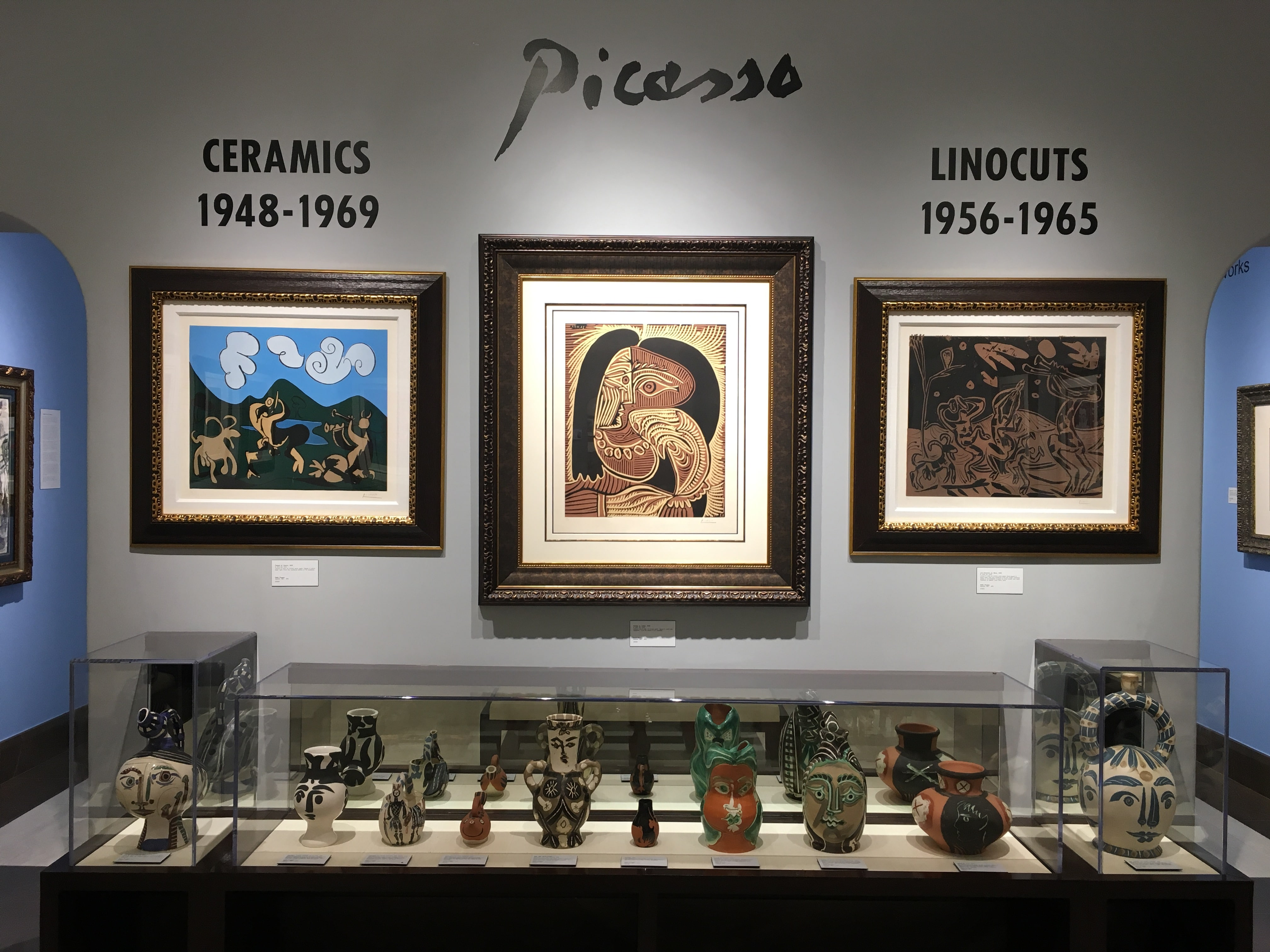 One of the Picasso galleries at Park West Museum.