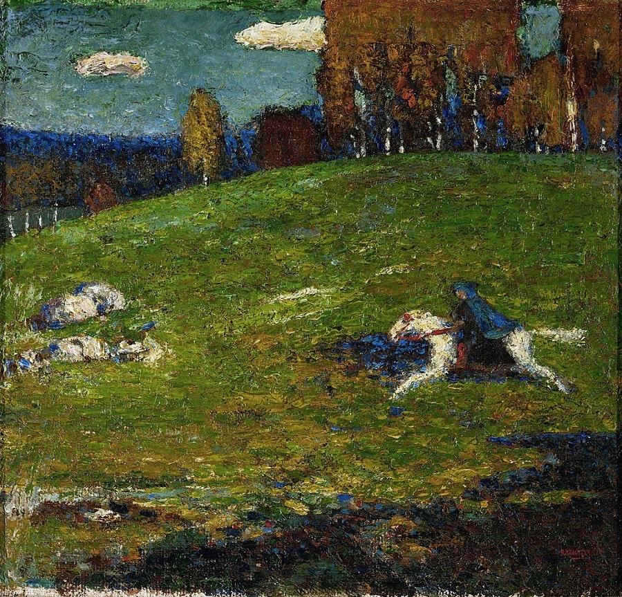 """""""Der Blaue Reiter"""" (1903), Wassily Kandinsky (public domain), Expressionism, Expressionist Art"""