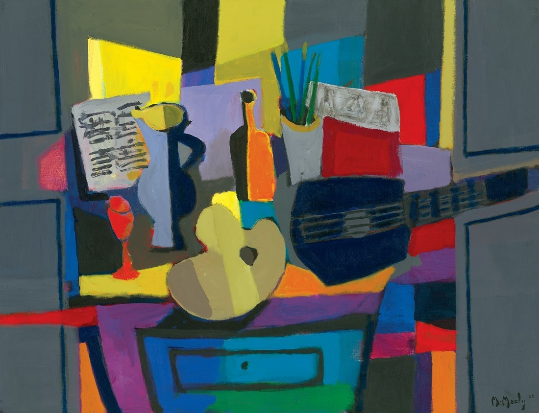 """""""Guitar and Score Palette"""" (Palette Guitare et Partition; 2000), Marcel Mouly"""
