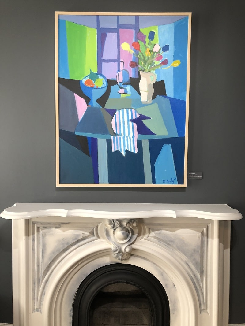 """Tulips with Rayee Towel"" (Tulipes a la Serviette Rayée; 2003), Marcel Mouly"