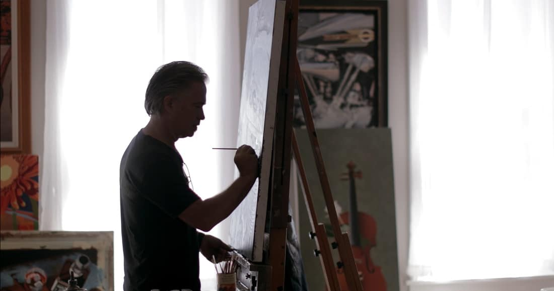 Jacobs at work in his studio.