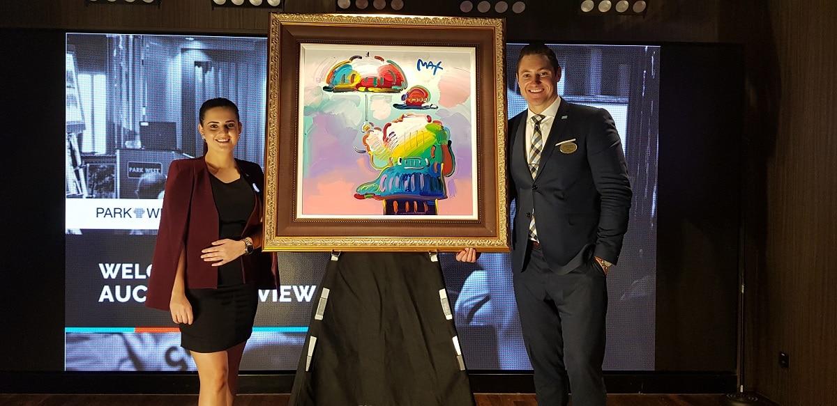 Park West Art Auctioneers Jared Hamer and Irene van Huyssteen
