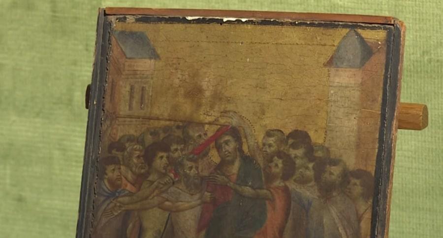 """Christ Mocked"" c. 1280 by Italian Renaissance master Cimabue (Image credit: AFP)"