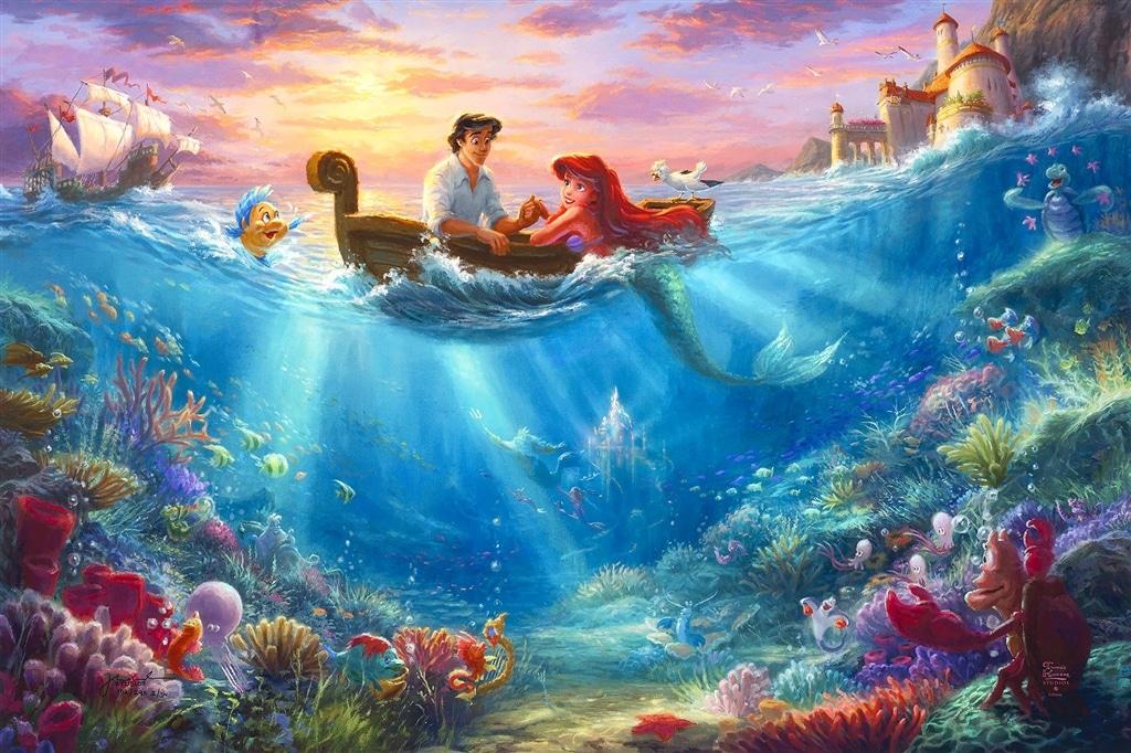 """Little Mermaid Falling in Love,"" Thomas Kinkade Studios"