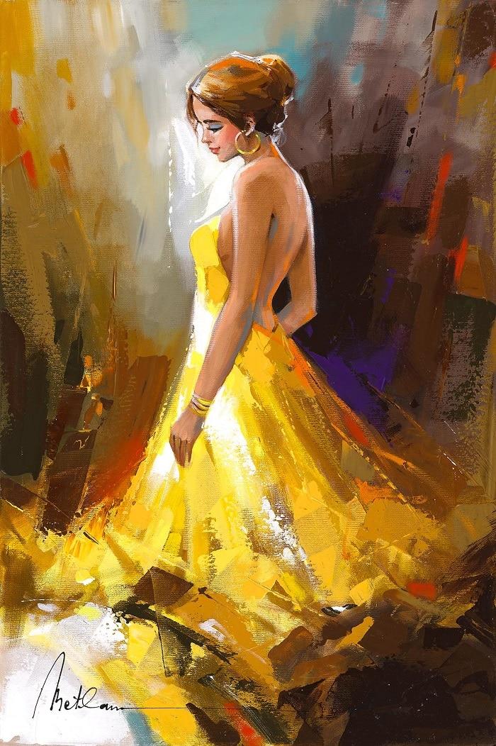"""A Beauty in a Golden Dress,"" Anatoly Metlan"