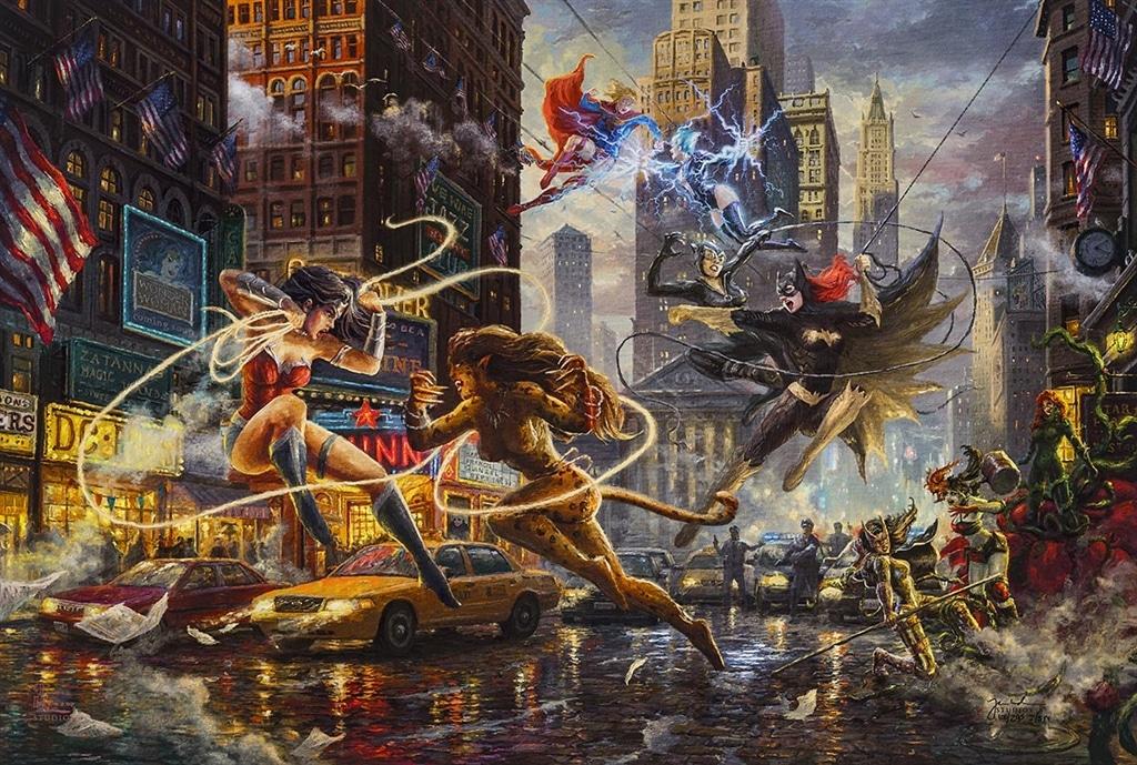 """""""The Women of DC,"""" Thomas Kinkade Studios"""
